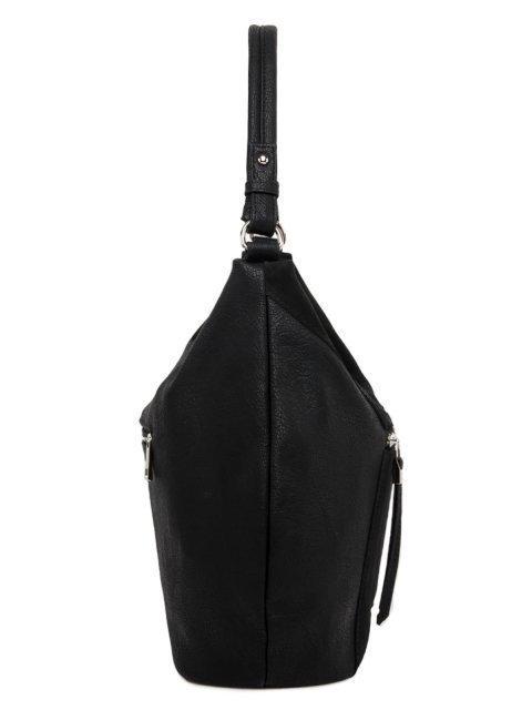 Чёрная сумка мешок S.Lavia. Вид 3.