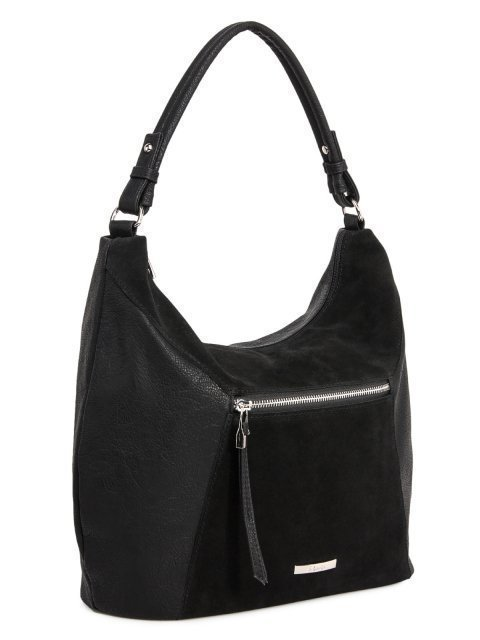 Чёрная сумка мешок S.Lavia. Вид 2.