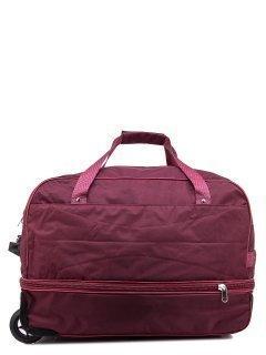 Бордовый чемодан Lbags предпросмотр