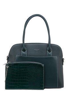 Зелёная сумка классическая David Jones предпросмотр