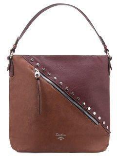 Бордовая сумка мешок David Jones предпросмотр