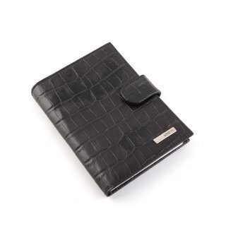 Чёрный бумажник Karya предпросмотр