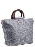 Серебряная сумка классическая David Jones в категории Женское/Сумки женские/Сумки тоут женские. Вид 2